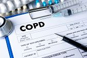 COPD Chronic obstructive pulmonary disease health medical concept poster