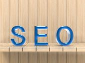 3d rendering seo text or search enging optimization concept poster