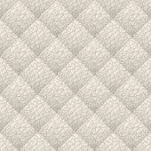 Beige leather upholstery vector seamless pattern. Quilted leather texture. Anymal skin texture. Can be used in web design and graphic design. poster