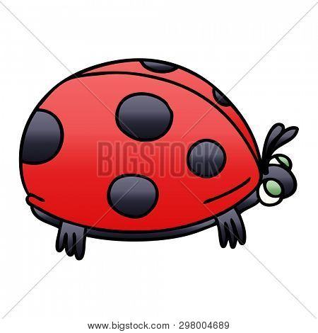gradient shaded quirky cartoon ladybird