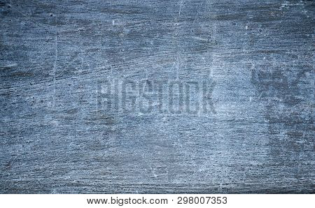 Rough Blue Gray Concrete Wall With Gritty Texture. Grunge Background