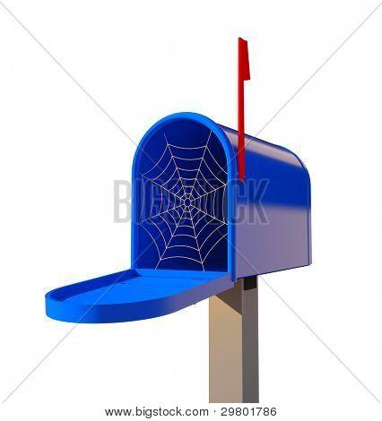 cobwebby mailbox (3D concept illustration)