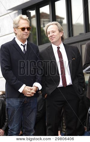 LOS ANGELES - FEB 6: Gerry Beckley; Dewey Bunnell at a ceremony where their rock band 'America' in honored with a star on the Hollywood Walk of Fame in Los Angeles, California. Feb 6, 2012