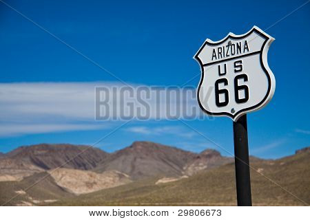 """Historic """"Mother of American roads"""" Route 66, Arizona poster"""