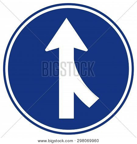 Merges Right Traffic Road Sign,vector Illustration, Isolate On White Background, Symbols, Icon. Eps1