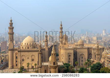 Cairo, Egypt- December 2 2018: Aerial View Of Cairo City From Salah Al Deen Citadel (cairo Citadel)