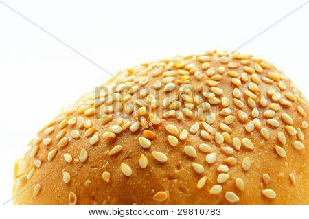 bread with a sprinkling of sesame