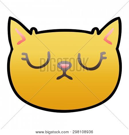 gradient shaded quirky cartoon crying cat