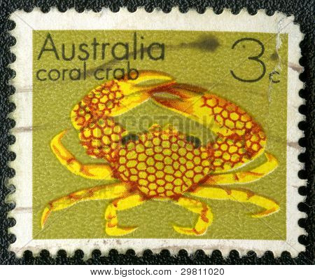 Australia - Circa 1973: A Stamp Printed In Australia Shows Coral Crab, Circa 1973