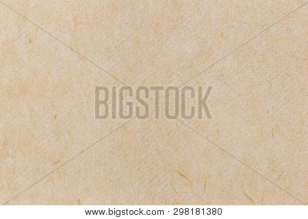Crumpled Brown Recycled Paper Texture Or Paper Background. Seamless Paper For Design. Close-up Paper