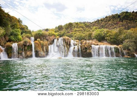 Krka, Sibenik, Croatia, Europe - Enjoying The Calming Waterfalls Of Krka National Park