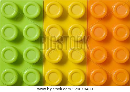 Colorful toy blocks background,close-up.