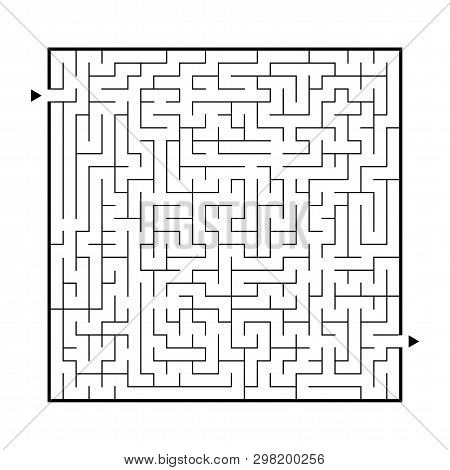 Difficult Big Maze. Game For Kids And Adults. Puzzle For Children. Labyrinth Conundrum. Find The Rig