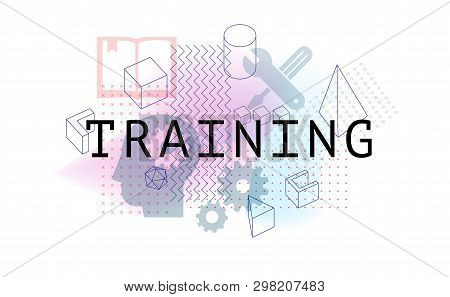 Online Training. Banner Training Concept And Business. Professional Business Corporate Training Staf