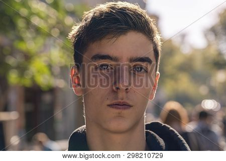 Portrait Of A Confident Young Man In The Street