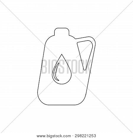Jerrycan Outline Icon. Elements Of Car Repair Illustration Icon. Signs And Symbols Can Be Used For W