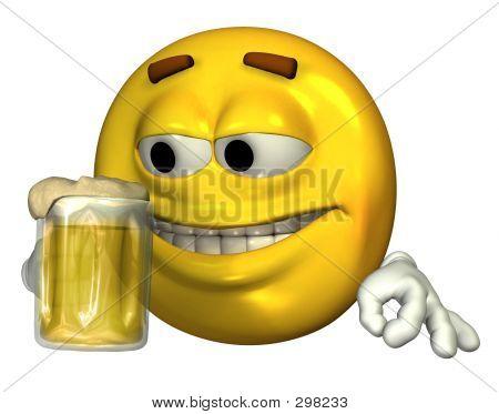 Beer Drinking Emoticon