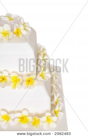 Wedding Cake With Frangipani