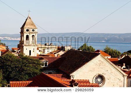 Holy Spirit Church in Omis in Croatia poster
