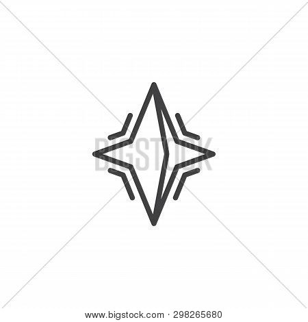 Neutron Star Line Icon. Linear Style Sign For Mobile Concept And Web Design. Pulsar Star Outline Vec