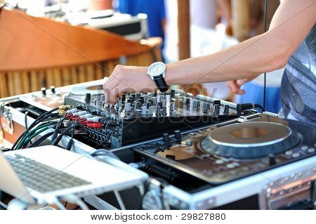 DJ in the mix