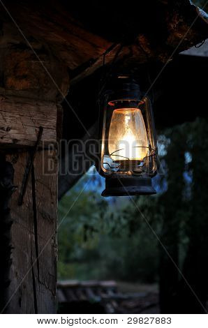 Romantic lantern at night
