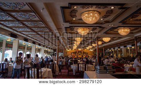 Shum Wan Pier Drive, Wong Chuk Hang,hong Kong - September 2018 : Jumbo Kingdom Floating Restaurant I