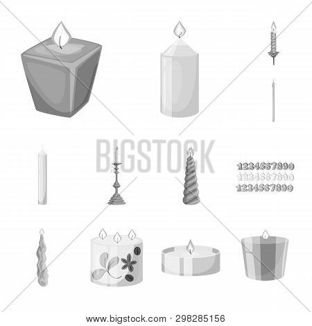 Isolated Object Of Paraffin And Fire  Icon. Collection Of Paraffin And Decoration    Stock Symbol Fo