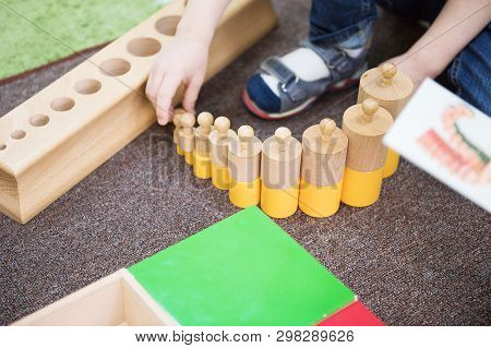 Montessori Education. Montessori School. Learning Materials In A Montessori Methodology School. Geom