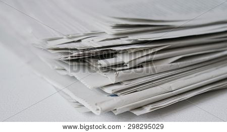 Messy Pile Of Newspapers Or Papers - News Or Paper Recycling Concept