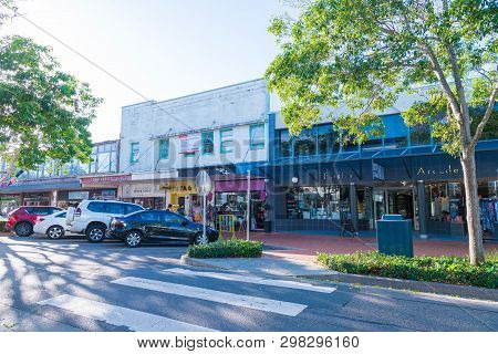People Enjoying The Sunny Weather In The City Of Forster, A Coastal Town In The Great Lakes Region O