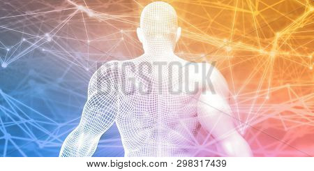 Science Technology Innovation as a Abstract Background 3D Render