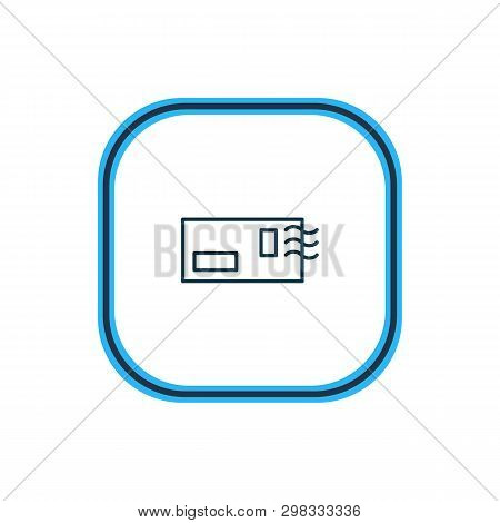 Vector Illustration Of Postcrossing Icon Line. Beautiful Activities Element Also Can Be Used As Enve