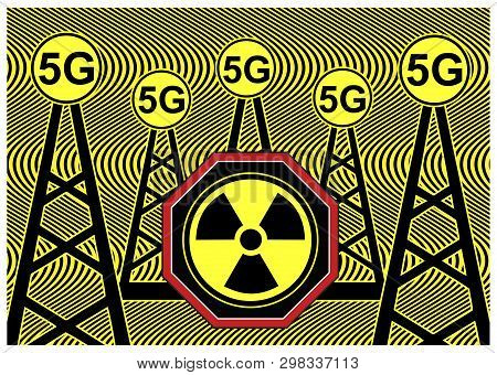 5g Radiation Health Risk. Wireless Networks And Cell Towers: Scientists Warn Of Negative Impacts On