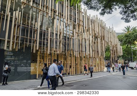 Sao Paulo Sp, Brazil - March 01, 2019: Japan House, Cultural Center Based On The Japanese Culture Wi