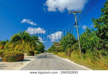Guy Banks Road On Little Cayman, Cayman Islands