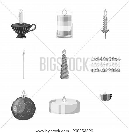 Vector Design Of Paraffin And Fire  Logo. Collection Of Paraffin And Decoration    Vector Icon For S