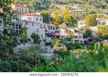 Town Tourrettes-sur-loup A Medieval Village In The Alpes, Provence France