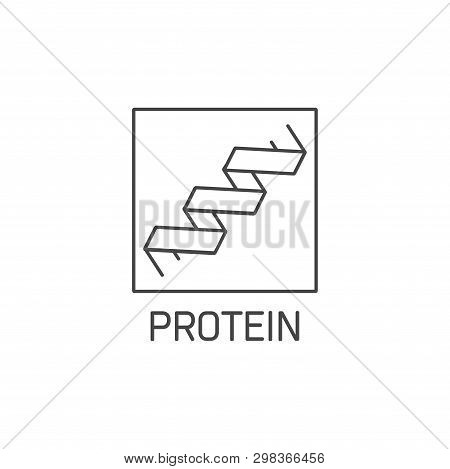 Vector Logo, Badge And Icon For Natural And Health Product. Protein Sign Design. Symbol Of Healthy E