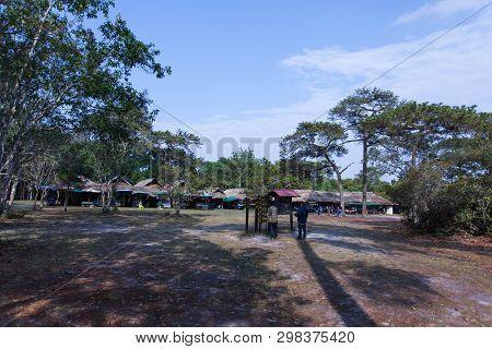 Phu Kradueng / Loei/ 13-02-2019: Most Tourists Usually Prefer To Take Sak Cliffs Of Signature Kradue