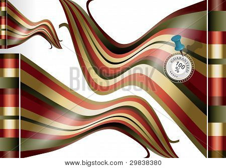 Abstract Flags With Medal