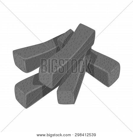 Vector Illustration Of Croutons  And Bread Logo. Collection Of Croutons  And Crackers  Stock Symbol