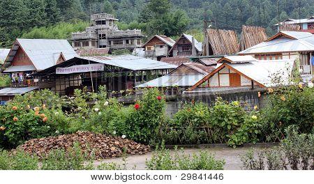 Village roof tops - Ziro