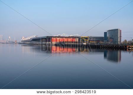 London, Uk - 17 April 2019: Exterior Of Excel London Conference Centre In London Docklands