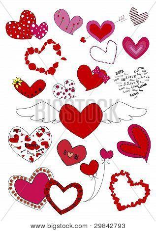 Heart 0f  love on white backgroud