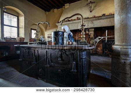 Beaune, France - August 10, 2017:  Interior Of Hospices De Beaune Is A Former Charitable Almshouse I
