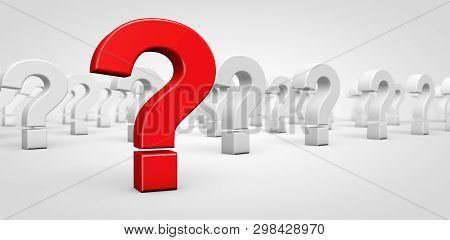 Red Question Mark Symbol On Foreground And Many Other Question Mark Icons On Background Customers Fa
