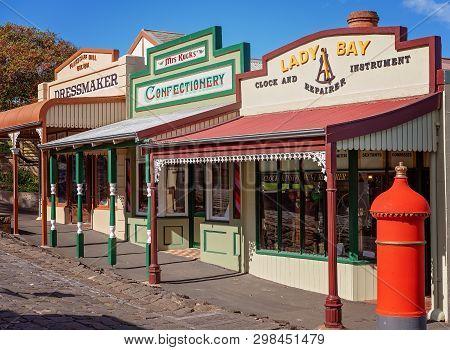 Warrnambool, Victoria, Australia - April 16th 2019: Flagstaff Hill Maritime Museum, Village Street