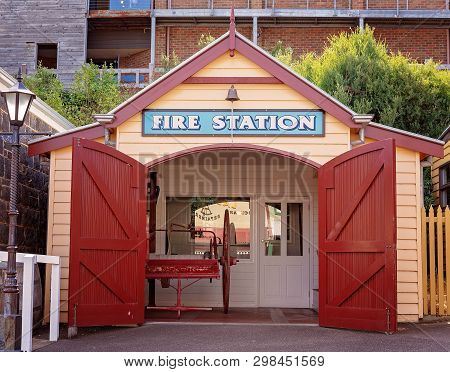 Warrnambool, Victoria, Australia - April 16th 2019: Flagstaff Hill Maritime Museum, The Fire Station