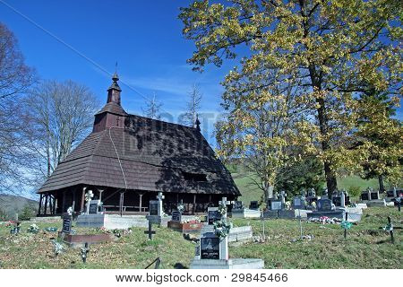 wooden church in Topola